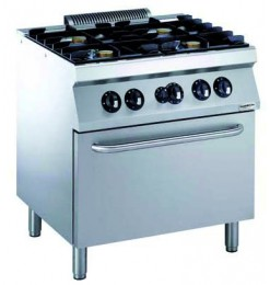 PRO 700 GAS FORNUIS 4 BR. MET GAS OVEN