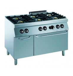 PRO 700 GAS FORNUIS 6 BR. MET GAS OVEN