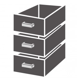 LADENBLOK 1/3 MONOBLOCK SOFT CLOSING