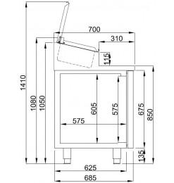 SALADETTE 2 DEUREN 7x 1/3GN PAN