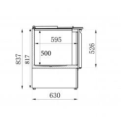SALADETTE 2 DEUREN 2.5x1/1GN PAN