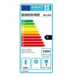 Gastro-Inox RVS koeling 600 liter, geforceerd gekoeld