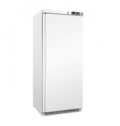 Gastro-Inox wit stalen vriezer 600 liter, statisch gekoeld met ventilator