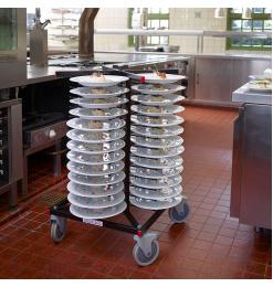 Jackstack verrijdbaar bordenrek geschikt voor 52 borden