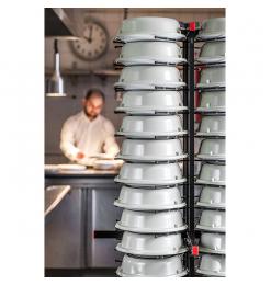 Jackstack verrijdbaar bordenrek geschikt voor 72 borden