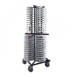 Jackstack verrijdbaar bordenrek geschikt voor 104 borden