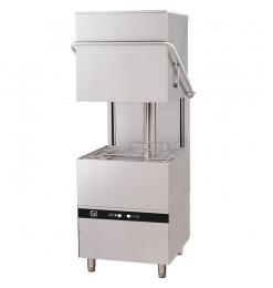 Gastro-Inox digitale doorschuifvaatwasser met afvoerpomp en zeepdispenser, 50x50cm, 400V