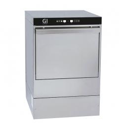 Gastro-Inox digitale vaatwasmachine met afvoerpomp, zeepdispenser en breaktank, 40x40cm, 230V