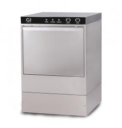 Gastro-Inox elektronische vaatwasmachine met afvoerpomp en zeepdispenser, 40x40cm, 230V