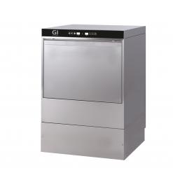 Gastro-Inox digitale vaatwasmachine met afvoerpomp en zeepdispenser, 50x50cm, 230V