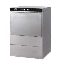Gastro-Inox digitale vaatwasmachine met afvoerpomp, zeepdispenser en breaktank, 50x50cm, 230V