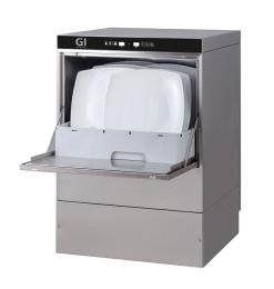 Gastro-Inox digitale vaatwasmachine met afvoerpomp, zeepdispenser en breaktank, 50x50cm, 400V
