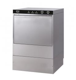 Gastro-Inox elektronische vaatwasmachine met afvoerpomp en zeepdispenser, 50x50cm, 400V