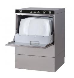 Gastro-Inox elektronische vaatwasmachine met afvoerpomp en zeepdispenser, 50x50cm, 230V
