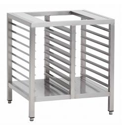 Gastro-Inox RVS onderstel voor ovens, 1000mm, Euronorm onderruimte