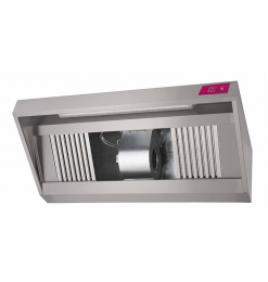 Gastro-Inox afzuigkap met motor, 2000(l)x1100(d)x540(h)mm