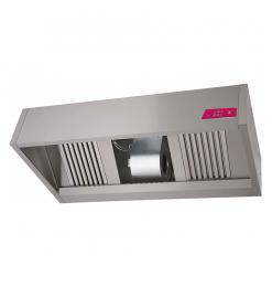 Gastro-Inox box model afzuigkap met motor, 1500(l)x1100(d)x540(h)mm