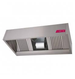 Gastro-Inox box model afzuigkap met motor, 2000(l)x1100(d)x540(h)mm
