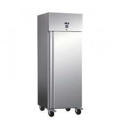 Gastro-Inox RVS 600 liter koelkast, statisch gekoeld met ventilator