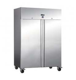 Gastro-Inox RVS 1200 liter vriezer, statisch gekoeld met ventilator