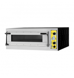 Gastro-Inox pizzaoven Genova met 1 kamer, 400V
