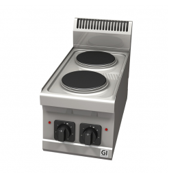 Gastro-Inox 600 Trendline elektrisch kooktoestel, 2 platen, 400V