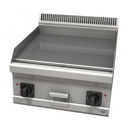Gastro-Inox 600 Trendline elektrische bakplaat met glad geslepen plaat, 400V