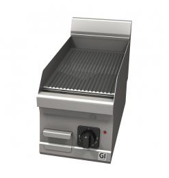 Gastro-Inox 600 Trendline elektrische bakplaat met geribbelde plaat, 230V