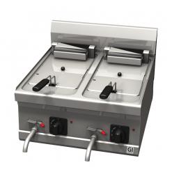 Gastro-Inox 600 Trendline elektrische friteuse, 10+10 liter