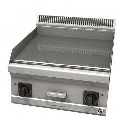 Gastro-Inox 600 Trendline elektrische bakplaat met gladde verchroomde plaat, 2x230V