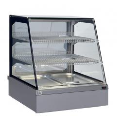 Gastro-Inox SnacksToGo warmhoudvitrine 2x GN1/1, waterlade voorzijde en achterzijde