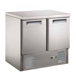 Gastro-Inox 2-deurs RVS gekoelde werkbank