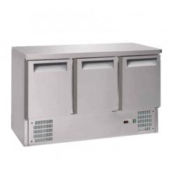 Gastro-Inox 3-deurs RVS gekoelde werkbank
