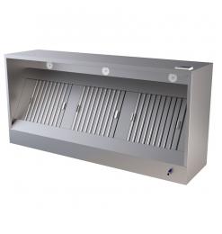 Gastro-Inox box model afzuigkap met motor, 1500(l)x950(d)x540(h)mm