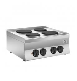 Gastro-Inox 650 HP elektrisch kooktoestel met 4 kookplaten, 70cm