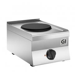 Gastro-Inox 650 HP elektrisch kooktoestel met 1 kookplaat, 40cm