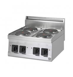 Gastro-Inox 600 Trendline elektrisch kooktoestel, 4 platen, 400V