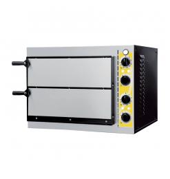 Gastro-Inox pizzaoven Torino 2 kamers, 230V