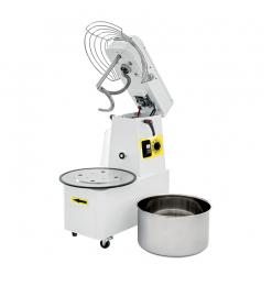 Gastro-Inox spiraalmixer 22 liter, met afneembare kom en kantelbare kop