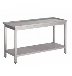 Gastro-Inox korventafel met onderblad rechts